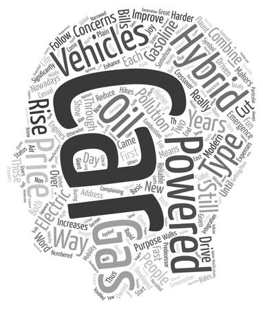 flaunt: hybrid vehicles text background wordcloud concept