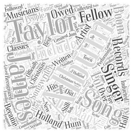 songwriter: James taylor song Word Cloud Concept Illustration