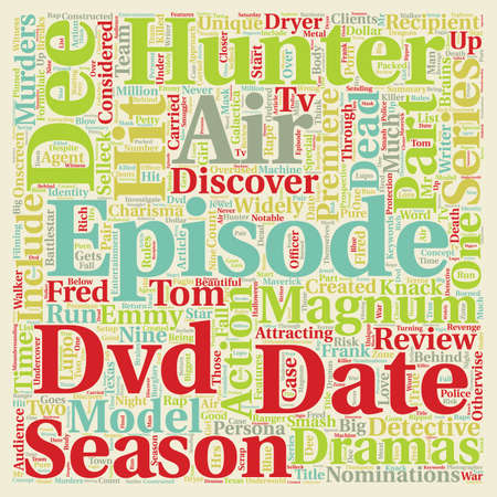 Hunter Season DVD Review text background wordcloud concept