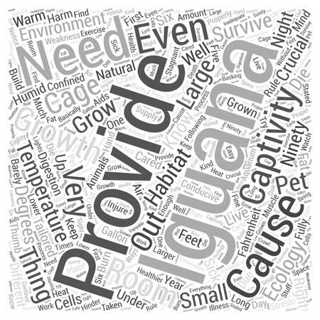 Iguanas ecology Word Cloud Concept Imagens - 74364335