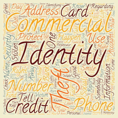 identity theft commercial text background wordcloud concept