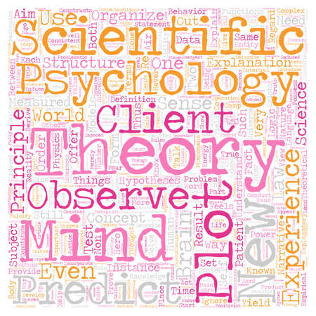 Is Psychology a Science text background wordcloud concept Illustration