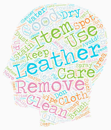 panache: Keep Your Leather Items As Good As New text background wordcloud concept Illustration