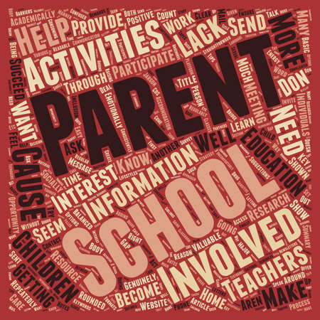 How To Get Parents Involved With School Activities text background wordcloud concept 向量圖像