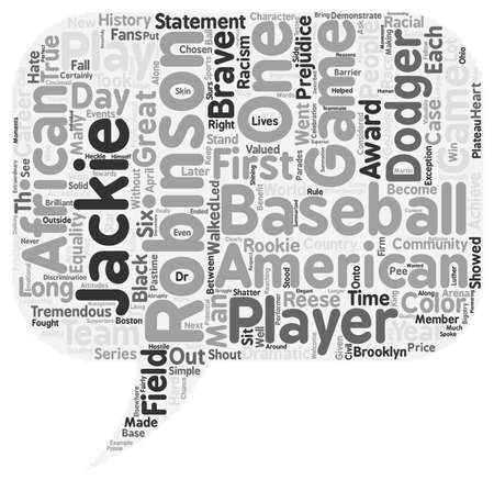 Jackie Robinson 1 text background wordcloud concept