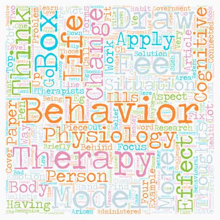 Hoe direct te leren toepassen Cognitieve gedragstherapie Model tekst achtergrond wordcloud concept