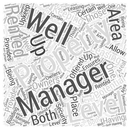 Keeping Up Potential Property with Property Management Word Cloud Concept