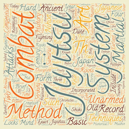 jujitsu: Jujitsu History Philosophy And Methods text background wordcloud concept
