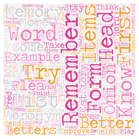 Improve Your Memory text background wordcloud concept Illustration