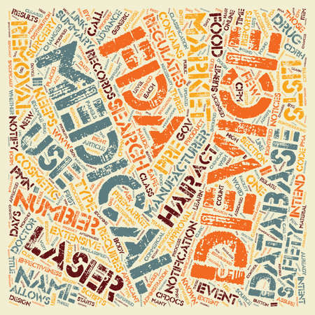 Is Your Doctor s Hair Removal Laser Safe text background wordcloud concept
