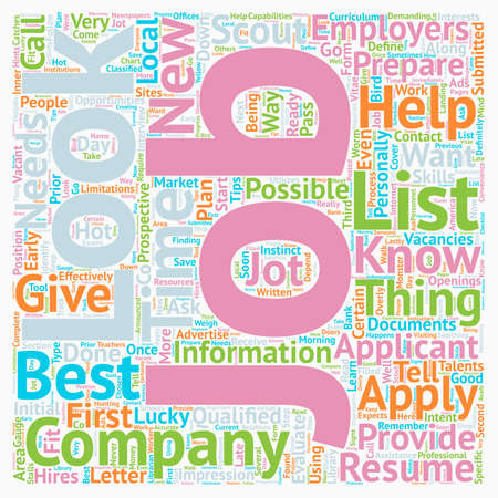 JH Learn how and where to look for jobs text background wordcloud concept