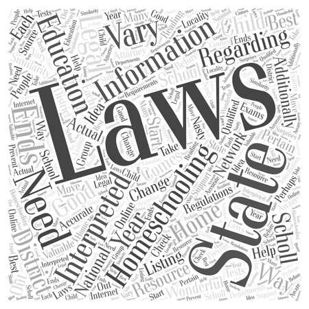 Is homeschooling legal dlvy nicheblowercom Word Cloud Concept