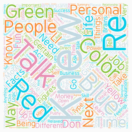I know what color you are text word cloud concept.