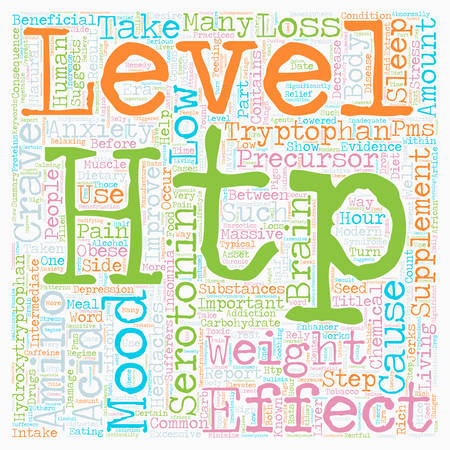 Improve Your Mood with HTP Supplements text background wordcloud concept