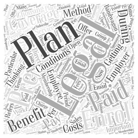 bandwagon: How to enrol for a legal plan Word Cloud Concept