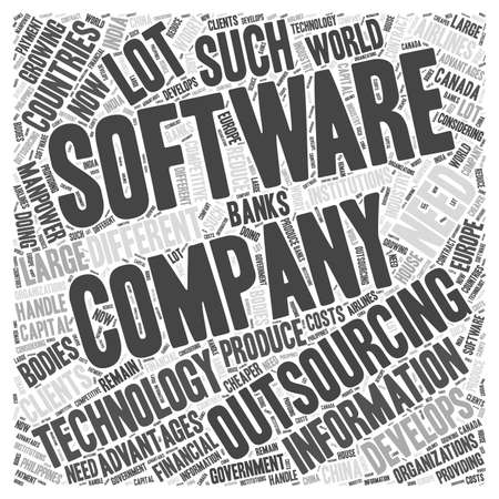 information technology outsourcing Word Cloud Concept
