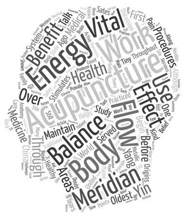 テキスト背景の wordcloud 概念は鍼治療の利点のあなたの健康は、します。