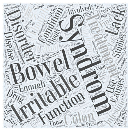 arises: irritable bowel syndrom Word Cloud Concept