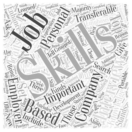 majority: JH skills emphasis job interview Word Cloud Concept