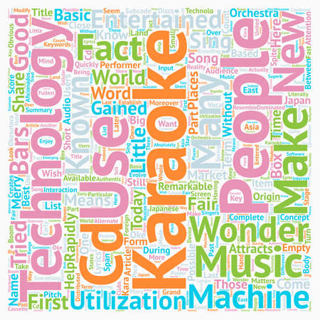 Karaoke Some Basic Facts Of Karaoke text background wordcloud concept