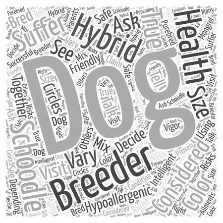 true bred: is the schoodle a true hypoallergenic dog dlvy nicheblowercom Word Cloud Concept Illustration