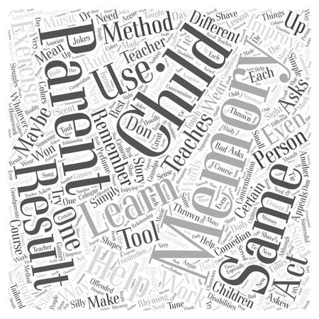 Improving Memory Using Memory Exercises Word Cloud Concept