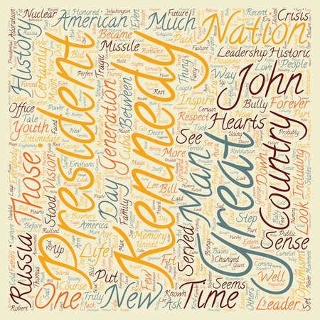 george washington: John F Kennedy text background wordcloud concept