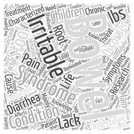 bowel: irritable bowel syndrome in children Word Cloud Concept Illustration