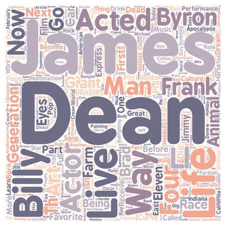 dean: James Dean James Byron Dean text background wordcloud concept Illustration