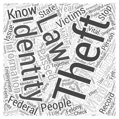 heard: Identity theft law Word Cloud Concept