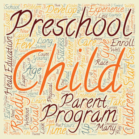 eager: Is Your Child Ready For Preschool text background wordcloud concept Illustration