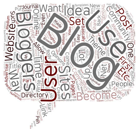 JP how to blog text background wordcloud concept Illustration