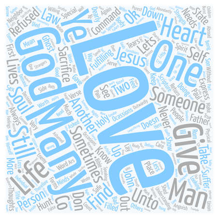 Its OK To Love text background wordcloud concept Ilustrace