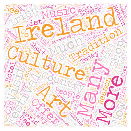 Ireland For Todays Tourist text background wordcloud concept