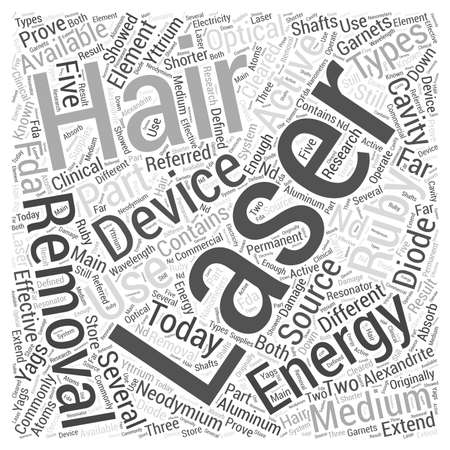 ruby: Laser Hair Removal Devices Word Cloud Concept Illustration