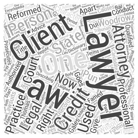 Lawyers Are The Most Laughed Off Professionals Word Cloud Concept Ilustração
