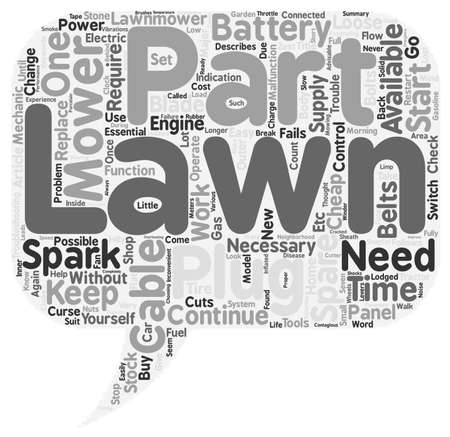 spare: Lawn Mower Spare Parts text background wordcloud concept