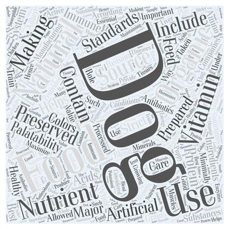 minimally: natural organic dog food Word Cloud Concept
