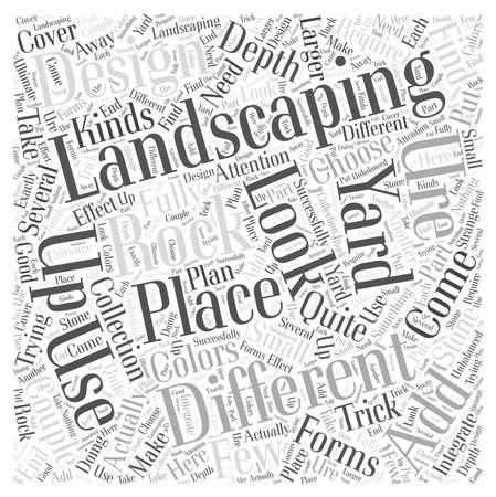 Landscaping Rock Word Cloud Concept