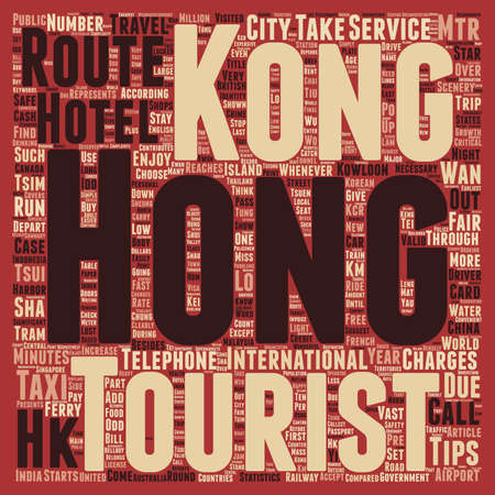 Must Know Travelers Tips to Hong Kong text background wordcloud concept 矢量图像