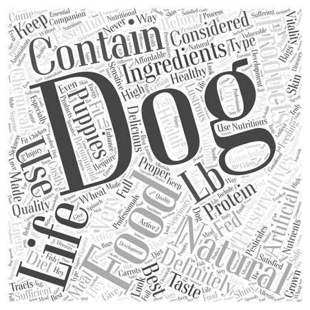 sufficient: natural life dog food Word Cloud Concept