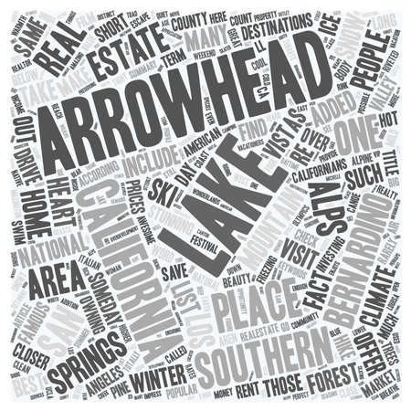 De tekst van achtergrond Alpen van Arrowhead van de tekst van Californië wordcloud concept