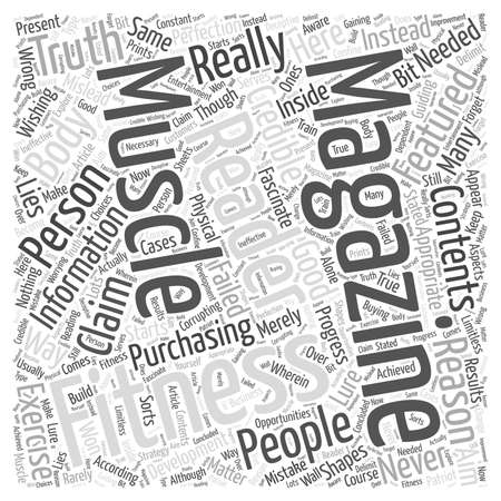 muscle and fitness magazine Word Cloud Concept