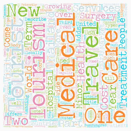 describe: Kill Two Birds With One Stone Medical Tourism text background wordcloud concept Illustration