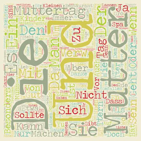 Muttertag Geschenke Ideen text background wordcloud concept Çizim