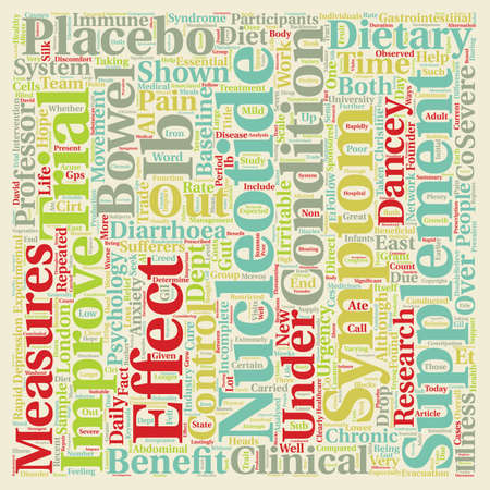 New hope for IBS sufferers text background wordcloud concept