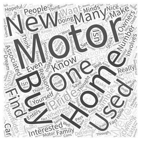 Case di motorizzazione Se si acquista nuovo o usato Word Cloud Concept