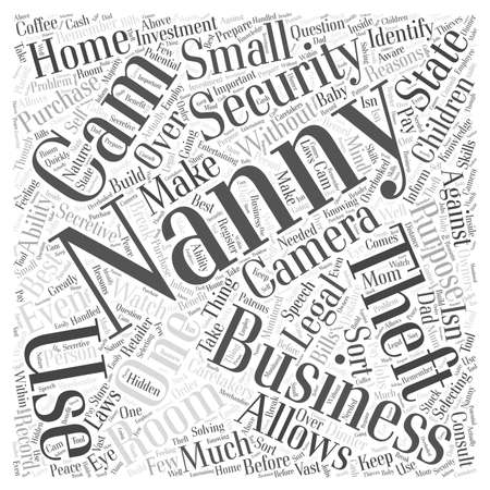 cams: Nanny Cams for Home and Business Security Word Cloud Concept