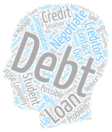 Negotiate Your Student Loan Debt text background wordcloud concept