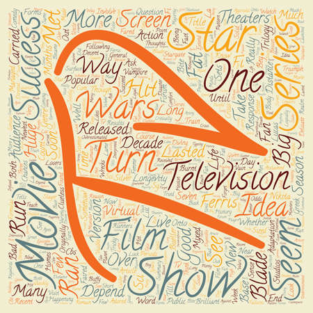 happening: Movies Turned into TV Shows Good or Bad Idea text background wordcloud concept Illustration